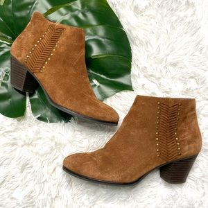 Franco Fortini | Nicolette Suede Booties | 9.5